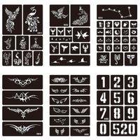 dessins de peinture pour le corps achat en gros de-15 Styles 1 Feuille Henné Indien Tatouage Imperméable À L'eau de Pochoir Conception Femmes Body Art Aérographe Peinture Temporaire Tatoo Autocollant # 275072