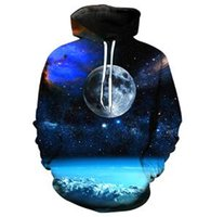 Wholesale Quiet Men - Newest 3D Quiet Planet Printing with Cap Pocket Hoodies Design Night Space Graphic Sweatshirts Men Women Long Sleeve Pullover
