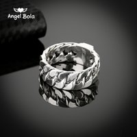Wholesale Ancient Buddha - whole saleFemale Male Jewelry Buddha Ring 2017 Motorcycle Chain Ring Ancient Silver Men Biker Charm Bicycle Rings Free Shipping