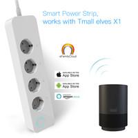 ingrosso prese di corrente di uscita-Presa CA PISEN 3 3 Presa USB di uscita Presa prolunga circolare Smart Plug Adapter UE Pulsante di alimentazione Protezione contro le sovratensioni