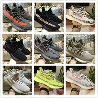 Wholesale freeze brand - 2018 Sply 350 Boost V2 For boost 350 Kanye West Running Men Women Shoes Blue Tint Yellow Frozen Zebra Designer Luxury Brand sneakers