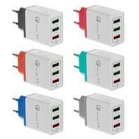 neue wandladegeräte großhandel-Neue Qc3.0 schnelles USB-Wand-Reiseladegerät schnelles Aufladen 3.0 multi USB-Ladegerät 3Ports tragbares schnelles Ladegerät EU / US-Version