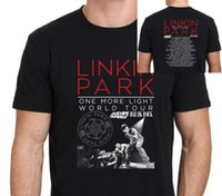 Wholesale linkin park t shirts - Linkin Park One More Light World Tour T Shirt 2017 Men's Black Size S-to-XXL
