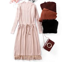 Wholesale Midi Dress Designs - 2018 Europe and America original design women's dress spring new style long lace lace knit skirt