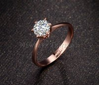 Wholesale heart bridal ring set - 50% Off!!! Never Fade Top quality 1.2ct 18K rose gold Plated large CZ diamond rings 6 prong bridal wedding Ring for Women