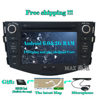 Wholesale toyota stereo for rav4 - 2din 2G+16G Car DVD Player for Toyota RAV4 2007 2008 2009 2010 2011 2012 with Radio BT swc GPS free map 4G WIFI