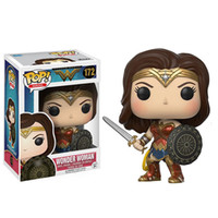 Wholesale wonder woman figure - Funko Pop Heroes DC Comics Wonder Woman Justice League Vinly Action Figure With Box #172 Toy Gift