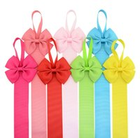 Wholesale tape baby resale online - 11 Colors Baby Girl Bow Hairpin Storage Tape Boutique Barrettes Finishing the rope Ribbon Hair Accessories