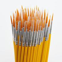 принадлежности для кисти оптовых-Длинный хвост nylonhair крюк линия пера живопись кисти дети DIY художественные принадлежности инструмент искусства канцелярские акварель живопись pen 10 шт./компл.
