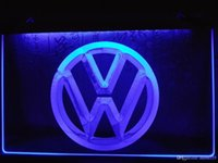 Wholesale neon light sign car - LG145b- Volkswagen VW Car Logo Services LED Neon Light Sign
