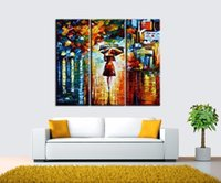Wholesale canvas prints three panel resale online - 2018 landscape painting modern wall art Abstract Oil canvas painting poster paintings living room pictures Factory