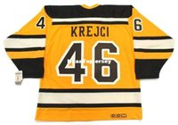 jersey de invierno bruins al por mayor-Jerseys para hombre personalizados DAVID KREJCI Boston Bruins 2010 CCM Vintage