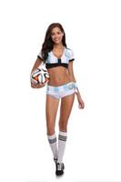 Wholesale women costume cheerleader - Girls Baby Cheerleader Football Baby Team Sports Suit Costume Nightclub Stage Clothing Role Play Cosplay Uniform