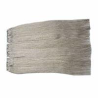 nahtloses silbernes großhandel-Silbergraues brasilianisches Jungfrau-Menschen ExtensionsTape-Haar 300g Klebeband für Haar-Verlängerungen 120pc Haut-Schuss-nahtlose Gray Tape Extensions