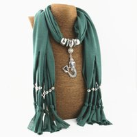 ingrosso collana del pendente dei monili della sciarpa di modo-2017 New Hot New Mermaid Pendant Fashion Necklace scarf Sciarpe da donna in autunno e inverno Sciarpa dei monili