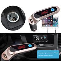 adaptador de carro para carregador de laptop venda por atacado-Bluetooth para Car Kit MP3 Player Transmissor FM Sem Fio Adaptador de Rádio Carregador USB para telefone Computadores Portáteis DDA339