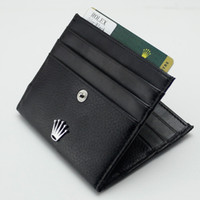 Wholesale suit cards for sale - Group buy Men Gift Hollow out Cufflinks Man Accessories Suit Shirt Golden MB Cuff Links Men Luxury Genuine Leather MB Wallet Black Card Holder
