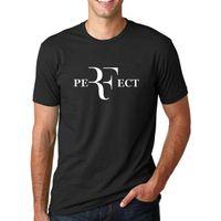 col parfait achat en gros de-Parfait lettres Design Logo T-shirt à manches courtes Hommes T Shirt Taille S-3XL Hommes 2018 mode marque T Shirt O-cou 100% coton T-Shirt Tops Tee