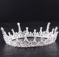 yeni gelin tacı toptan satış-2018 Yeni Gelmesi Yüksek Kalite Güzel Elegent Kafa Jewel Aksesuarları Kristal Gelin Tiara Taç Düğün Gelin Prenses Tam Taç