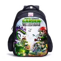 pflanze gegen zombies rucksack großhandel-Neue Kinderpflanzen VS Zombies Rucksack Schultasche Schulter Schulter Rucksack Geschenk NN