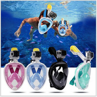 Wholesale kids beach toys set - Summer Underwater Diving Mask Snorkel Set Swimming Training Scuba mergulho full face snorkeling mask Anti Fog No Camera Stand B