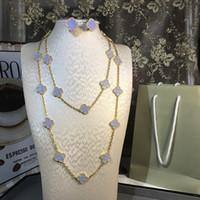 conjunto de pulseira de brincos azul venda por atacado-Jóias de luxo Para As Mulheres Natural Azul Lapis Lazuli Flor Wedding Set Jóias 20 Colar De Flores pulseira brinco um conjunto de Jóias