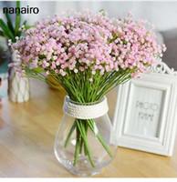 ingrosso fiori di seta del fiore del bambino-7 biforcazione / Bouquet Babysbreath Decorazione floreale per il fiore artificiale di seta Baby's Breath Bouquet di fiori di rosa finti