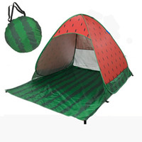 Wholesale camping gazebo tent - Widesea new pop up beach tent watermelon beach sunshelter UV-protective quick automatic open fishing hiking and camping gazebo