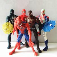 modelos de batman al por mayor-Figuras de acción de Spiderman Dibujos animados PVC Collectable Model Avengers Civil War Comics Héroes Spider Man Toys con accesorios