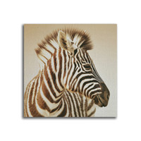 Wholesale zebra wall decorations - YJ ART zebra Unframed Modern Canvas Wall Art for Home and Office Decoration, Animal ,Frame painting prints