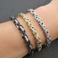 Wholesale byzantine stainless steel bracelet for sale - Group buy 6mm Stainless Steel Byzantine Chain Bracelet Male Men s Bracelet Fashion Jewelry Accessories