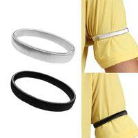 braçadeiras para mulheres venda por atacado-Suportes de manga de camisa Braço Bandas de Metal Elástico Braçadeira Para Homens Senhoras Mulheres Adultos para se concentrar no trabalho e esportes