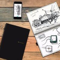 Wholesale Memo Pad Vintage - Elfinbook 2 Erasable Reusable Smart Microwave Notebook Everlast Wave Cloud Erase Evernotes Notepad Note Pad Lined With Pen