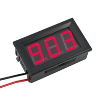 Wholesale panel amp meters - Digital Voltmeter Ammeter DC V A Red Blue LED Dual Voltage Amp Panel Guage Car Current Monitor Tester v Voltage Meter
