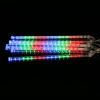 Wholesale rain drop led lights - LED Falling Rain Lights with 30cm Meteor Shower Light Falling Rain Drop Christmas Lights Icicle String Lights for Holiday Party