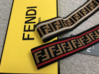 Wholesale Best quality New Luxury Brand FEND Women Head Scarf Echarpes Foulards Cachecol Designer Elastic Headband Hair Bands for Men and Women