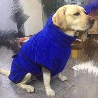 mini cão roupa venda por atacado-Roupão de banho para o cão de estimação roupas de cão macio grooming toalha casaco jaqueta grande oferta de produtos para animais de estimação altamente absorvente
