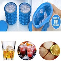 Wholesale Wholesale Bar Ice Buckets - Silicone Irlde Ice Genie Practical Revolutionary Space Saving Ices Cube Maker Creative Coolers Buckets For Bar Kitchen Tools 33my CZ