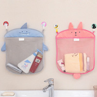Wholesale bath wall storage - Wall Hanging Kitchen Bathroom Storage Bags Knitted Net Mesh Bag Baby Bath Toys Make Up Organizer Container BBA283