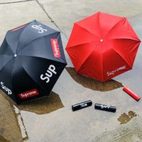 guarda-chuva para impressão venda por atacado-Guarda-chuvas Marca Designer Crânio Impresso Guarda-chuva Guarda-chuva Dobrável À Prova de Vento Portátil Curto Lidar Com Umbrella Chuva Proteção Para Sombra