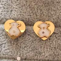 prix neuf achat en gros de-NOUVEAU Top Qualité Marque Prix de Gros Diamant Lettre Ronde Conception Boucles D'oreilles Mode Simple 18K Or Rose Argent Boucles D'oreilles