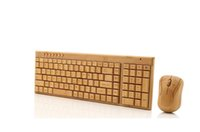 Wholesale wooden keyboards - Wireless Multimedia Bamboo Keyboard 2.4GHz Handmade Wooden Wireless Keyboard &Mouse Wood Combos with one USB receiver for PC laptop