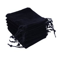Wholesale Small Velvet Jewelry Pouches - Gift Bags 6x7cm Candy Bags Drawstring Wedding Favor Cheap Jewelry Pouch Small Velvet Jewelry Bag Christmas Gift Packaging Pouche