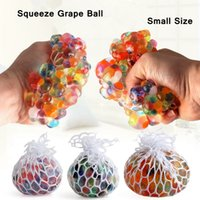 Wholesale squeeze stress for sale - Group buy Small Anti Stress Mesh Grape Ball Latex Colorful Anti Stress Relief Ball Stress Autism Mood Relief Hand Wrist Squeeze Novelty Toy AAA1113