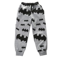 bebek bat pantolon toptan satış-2018 Son Çocuk Giyim Moda Toddler Bebek Çocuk Boy Karikatür Yarasa Elastik Konik Pantolon Rahat Pamuk Pantolon Tayt 2-7 T