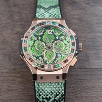спортивные часы новые дамы оптовых-2019 НОВЫЕ часы с хронографом Lady fashion кварцевые часы Snakeskin Watch Резиновый ремень Спортивный стиль Многофункциональные наручные часы Diamond H