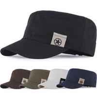 Wholesale design baseball caps online - Personality Cotton Men Hat Patch Design Sports Flat Top Peaked Cap Comfortable Anti Wear Baseball Caps High Quality yy B