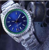 ingrosso orologio perpetuo della data-2018 nuovo 3 stile di lusso di alta qualità BP Factory Perpetual 40 millimetri 116400 116400GV intagliato Bracele 2826 movimento automatico Mens Watch