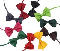 yay malzemeleri toptan satış-50 adet Pet headdress Köpek boyun kravat Köpek papyon Kedi kravat Pet bakım Malzemeleri Renkli seçebilirsiniz