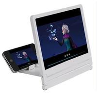 neueste video großhandel-Neueste Handy-Bildschirm-Vergrößerungsglas-Augen-Schutz-Display-3D-Bildschirm-Verstärker, der vergrößerten Expander-Stand faltet